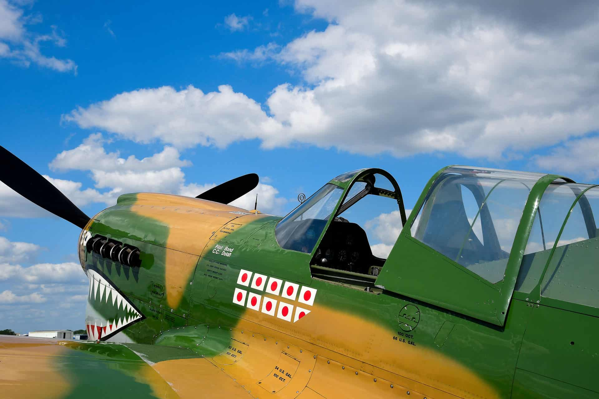 Yellow and Green War Plane