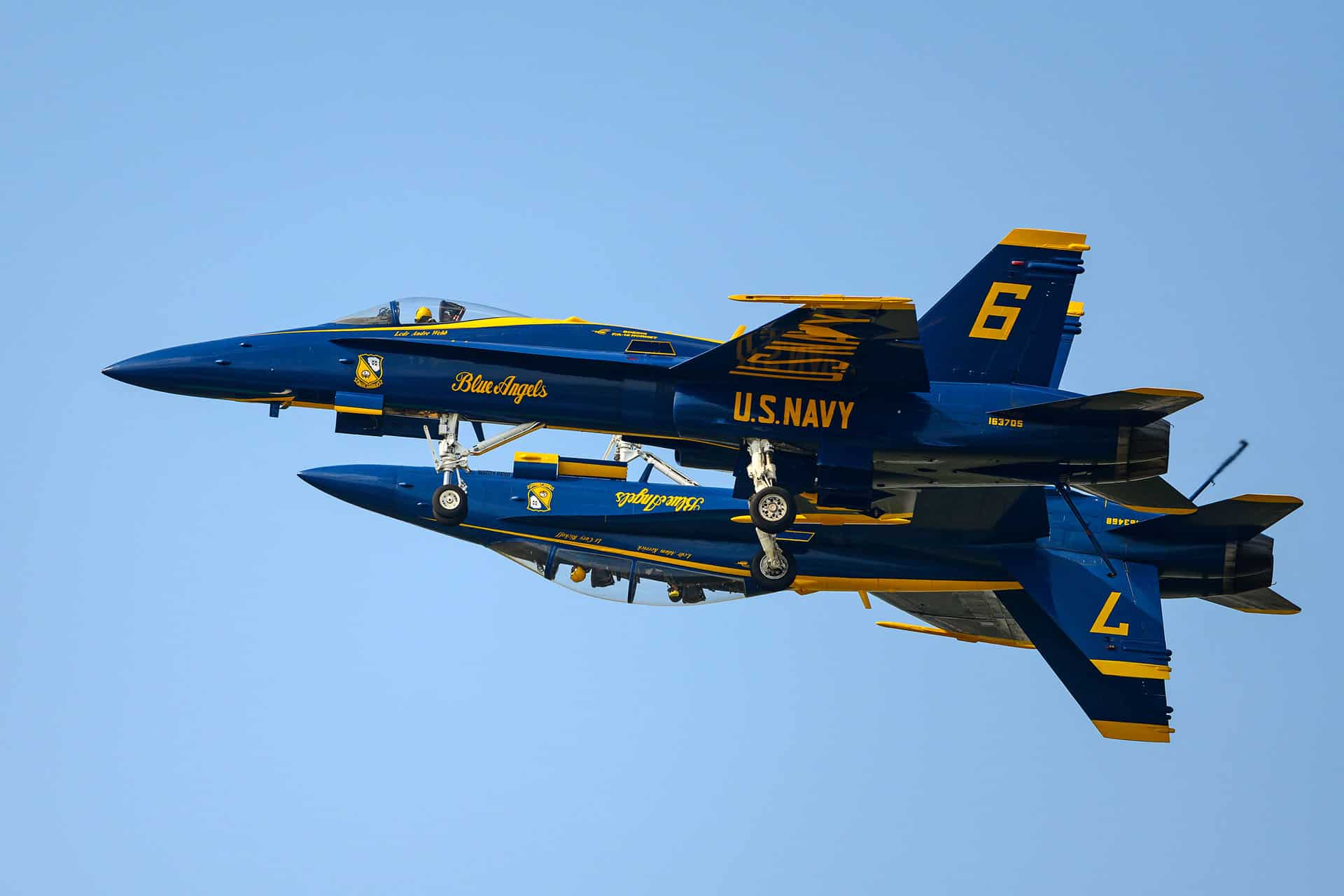 Blue Angels during airshow